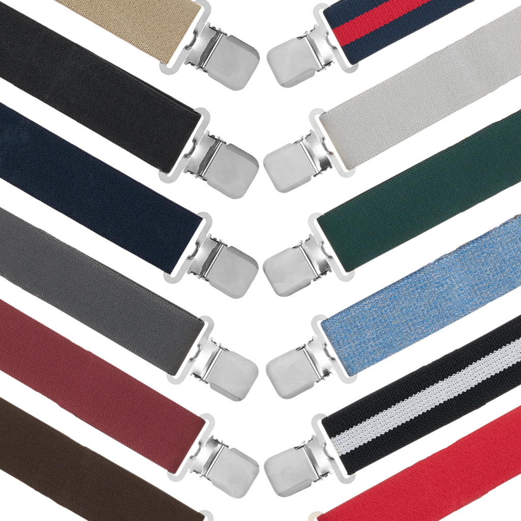 Big & Tall 1.5-Inch Construction Clip Suspenders - All Colors