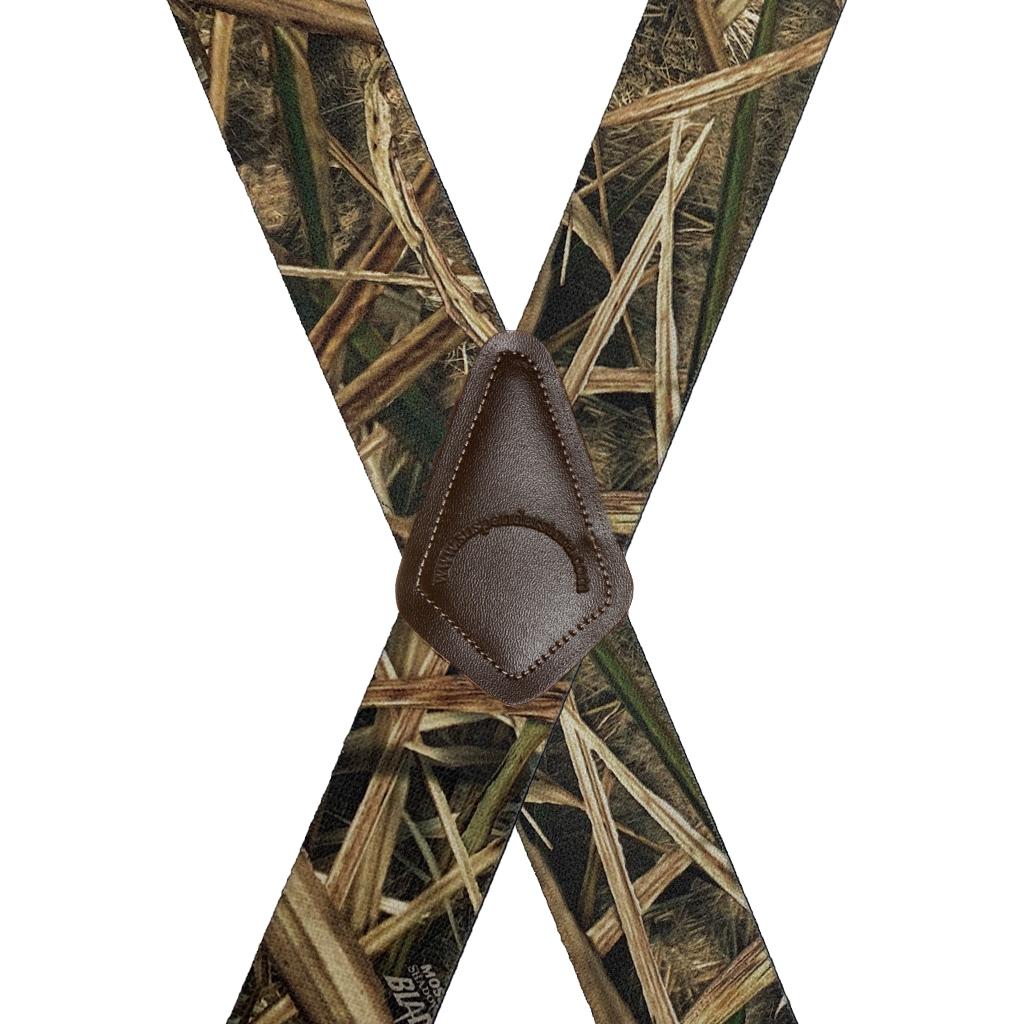 Shadow Grass Blades Suspenders - Rear View