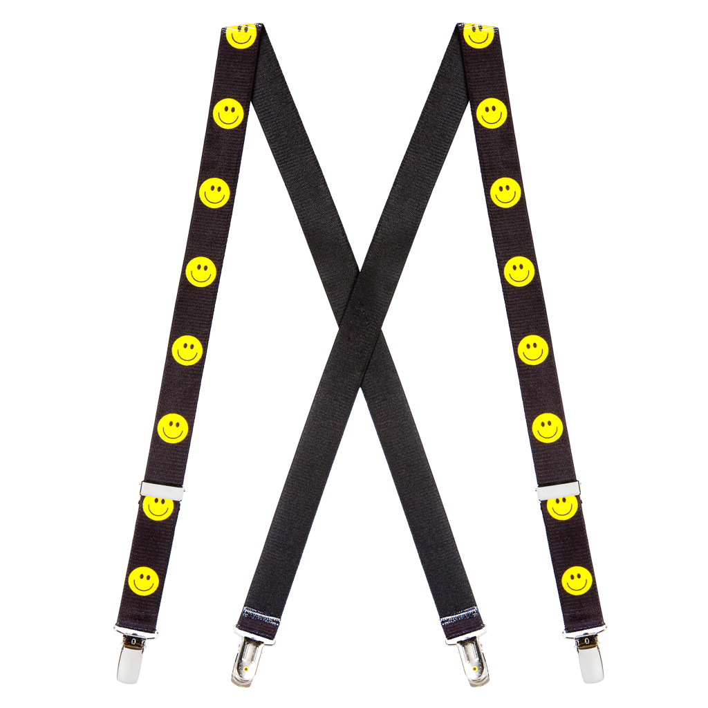 Happy Face Suspenders for Kids Full View