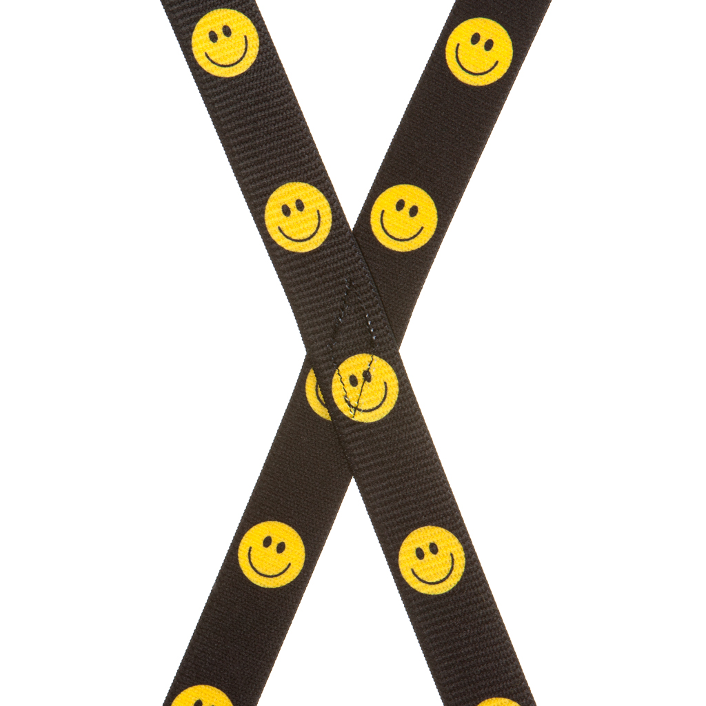 Happy Face Suspenders for Kids Rear View