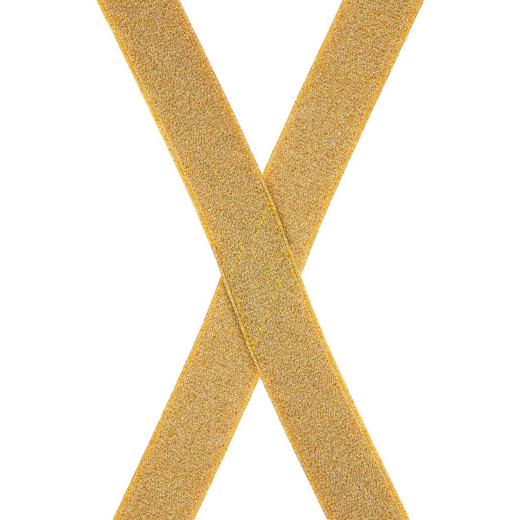 Gold Glitter Suspenders Rear View