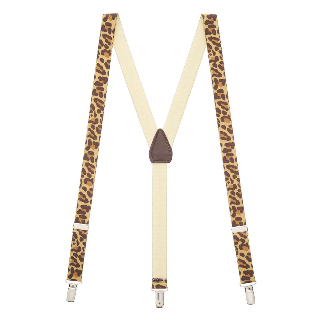Leopard Print Suspenders - Full View