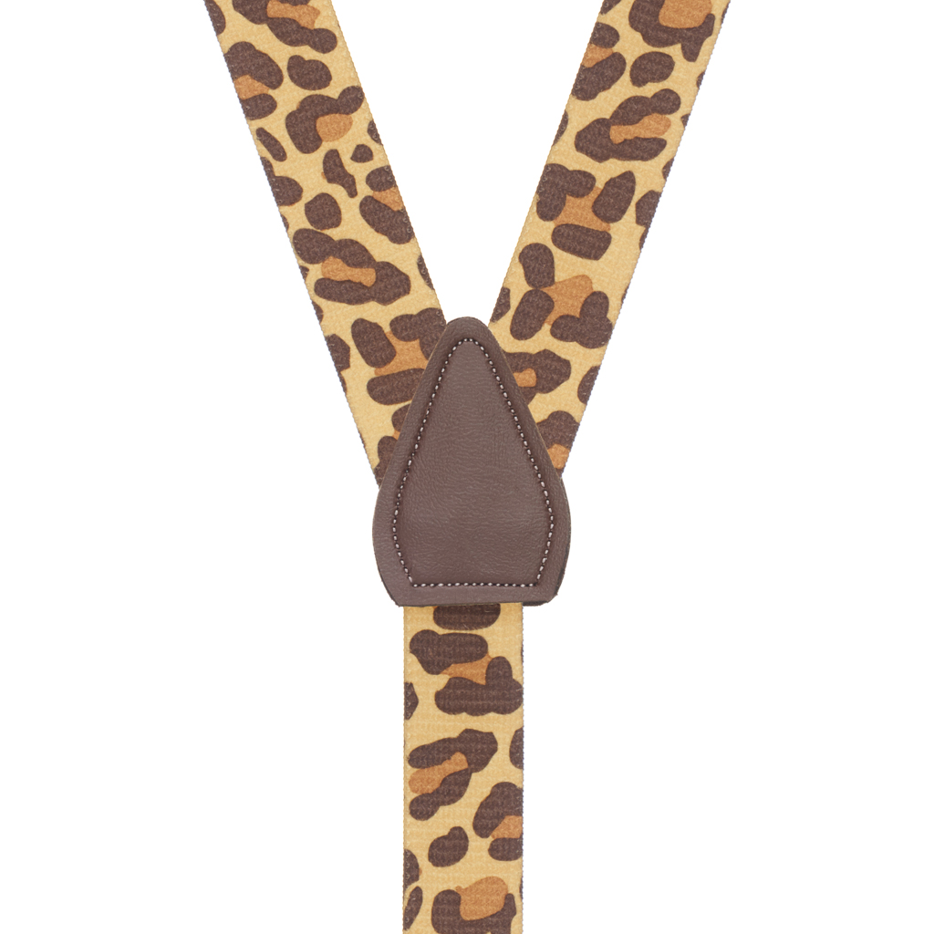 Leopard Print Suspenders - Rear View