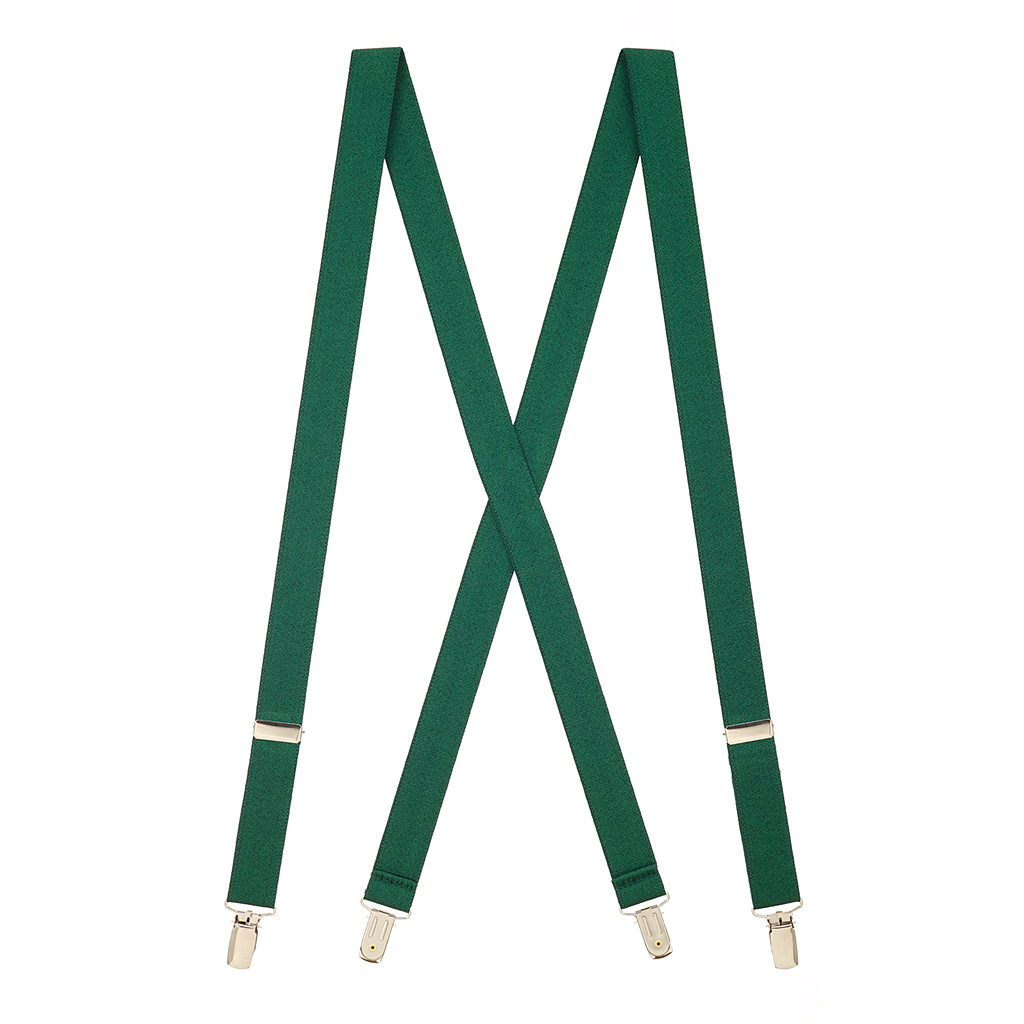 1-Inch Wide Suspenders in Hunter - Full View