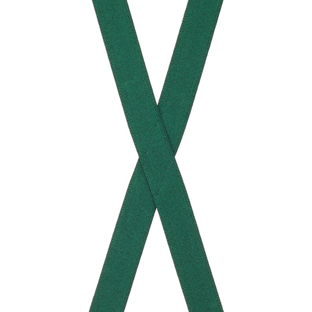 1-Inch Wide Suspenders in Hunter - Rear View