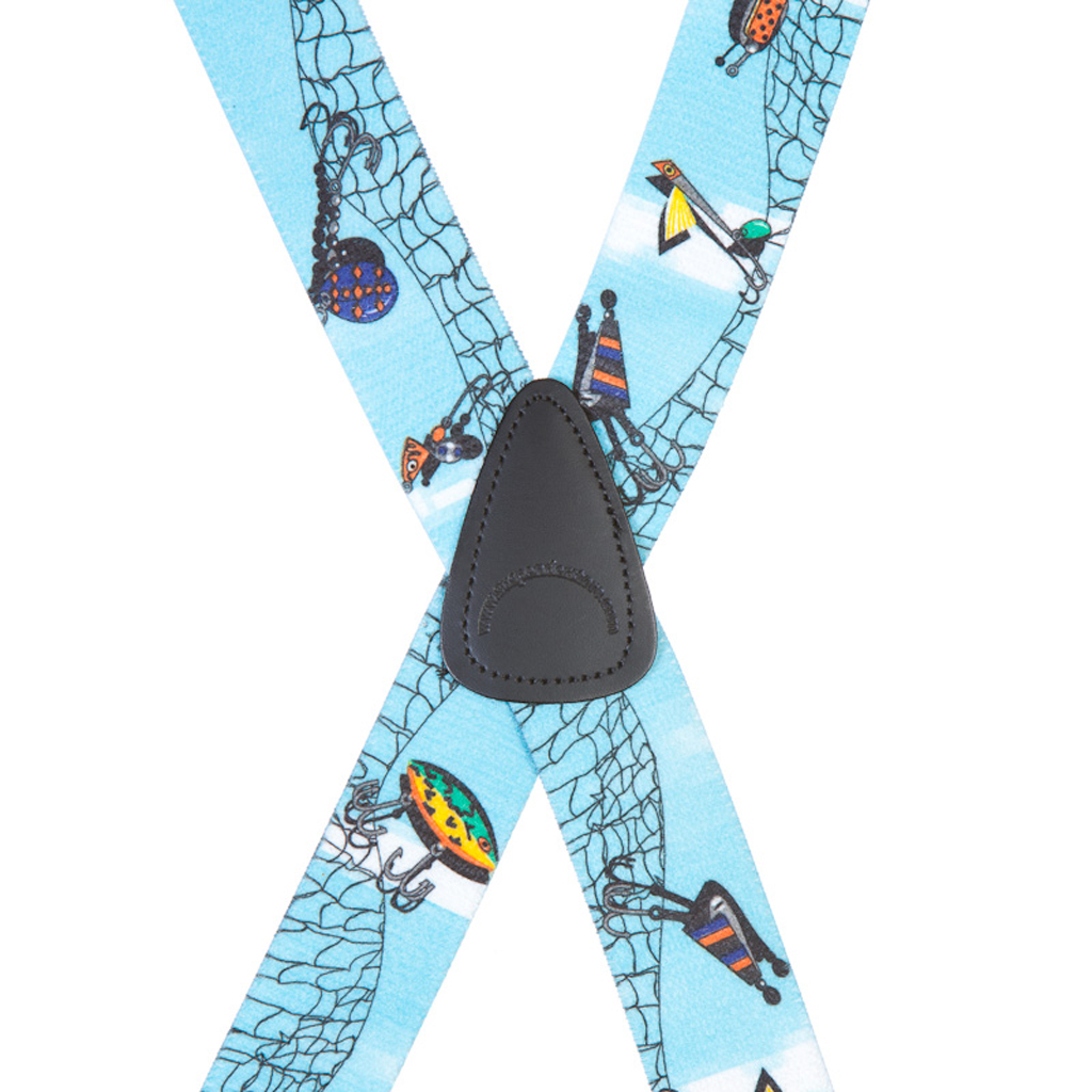 Fishing Lures Suspenders - Rear View