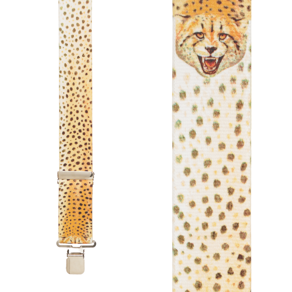 Cheetah Suspenders - Front View