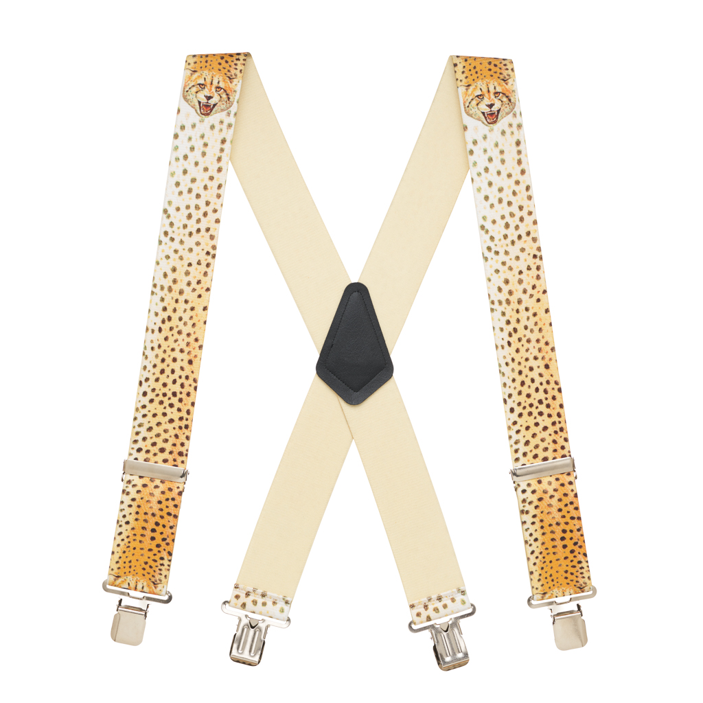 Cheetah Suspenders - Full View