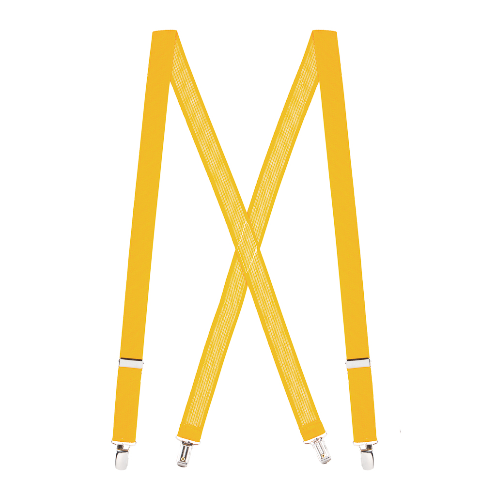 Golden Yellow X-Back Suspenders Full View