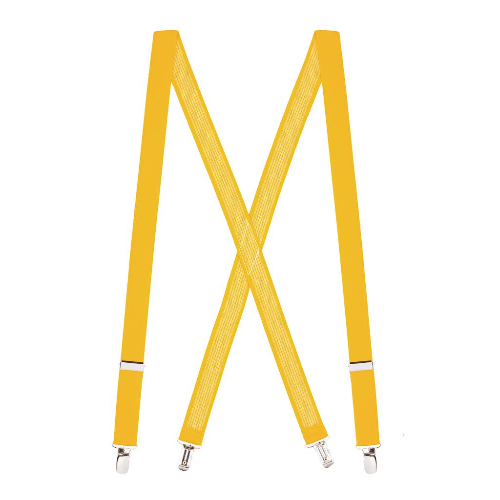 Golden Yellow X-Back Suspenders Full View