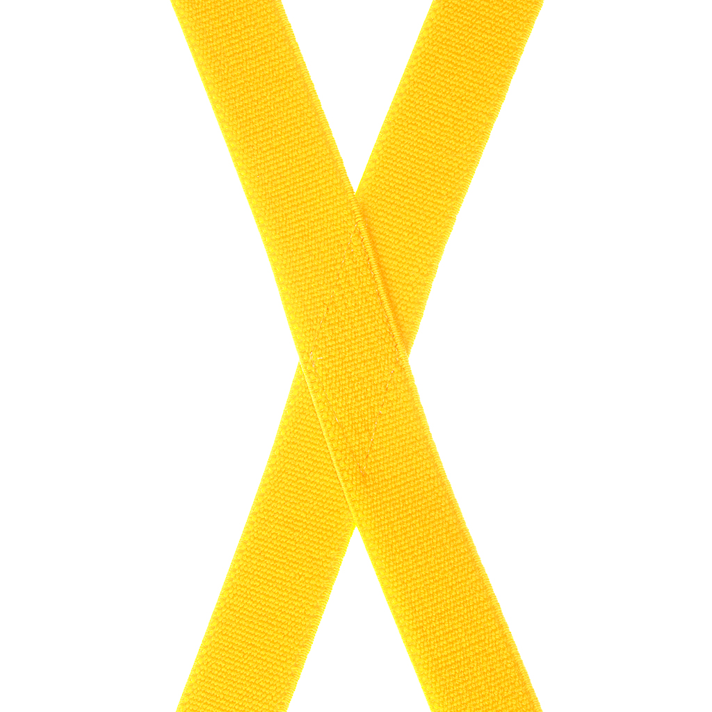 Golden Yellow X-Back Suspenders Rear View