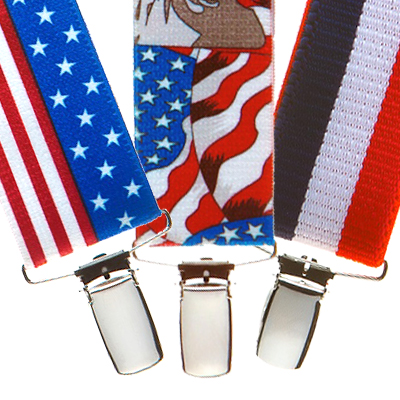 Red, White & Blue Suspenders - All Designs