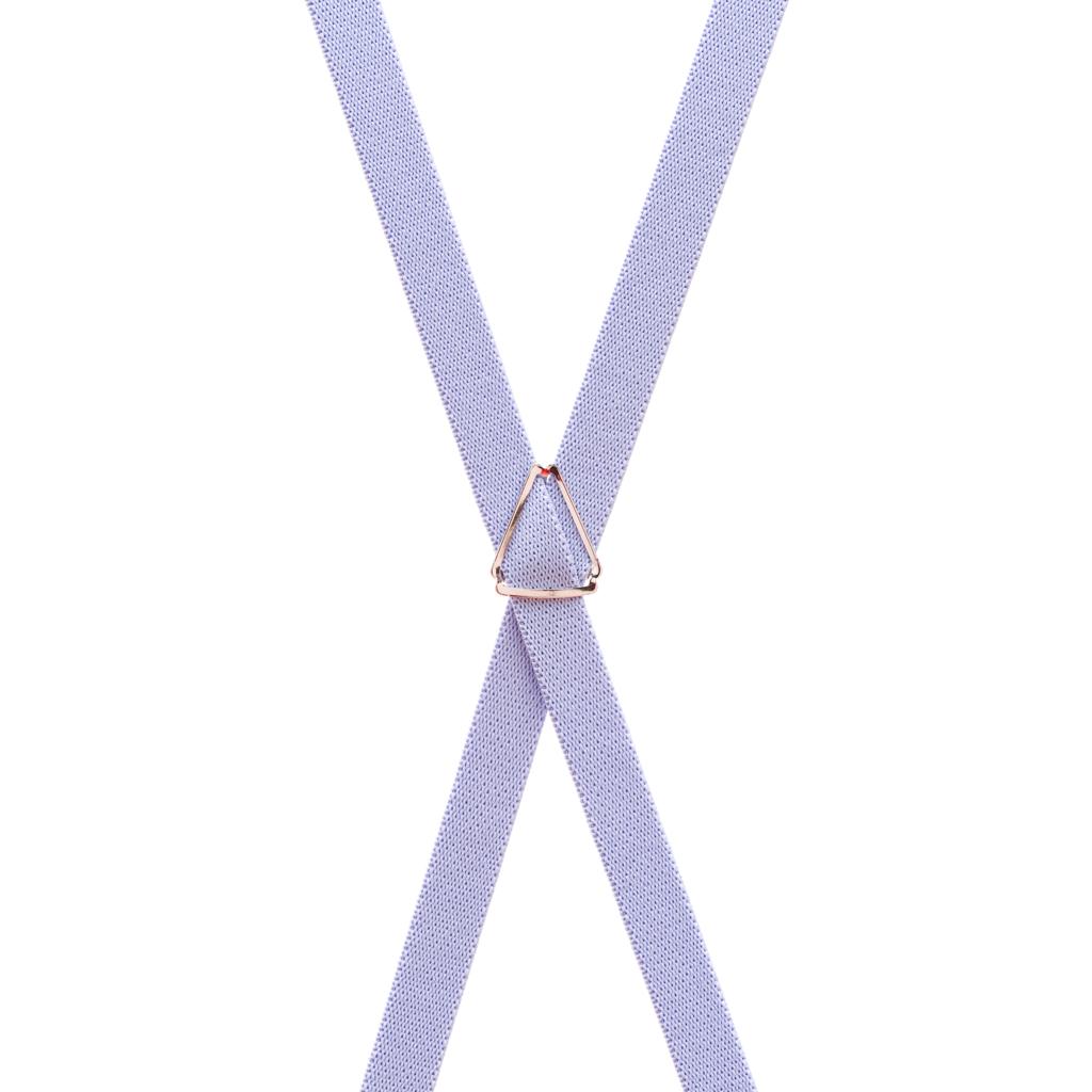 1/2 Inch Skinny Suspenders in Light Purple - Rear View