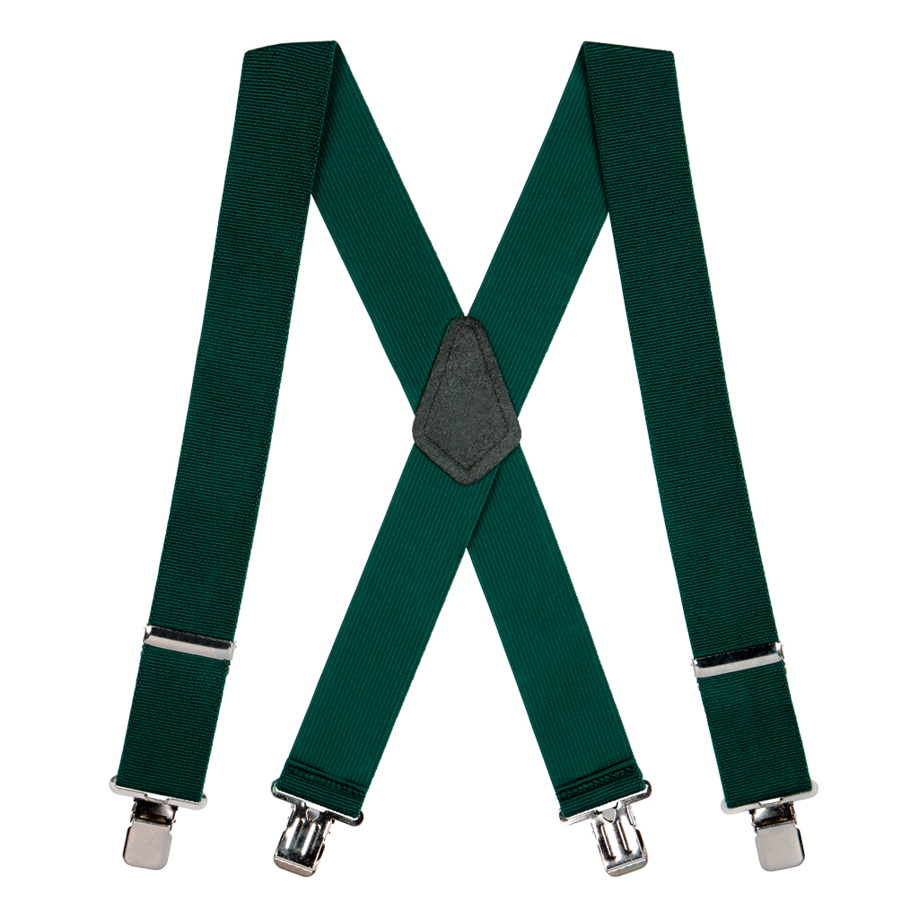 Classic Suspenders in Green - Full View