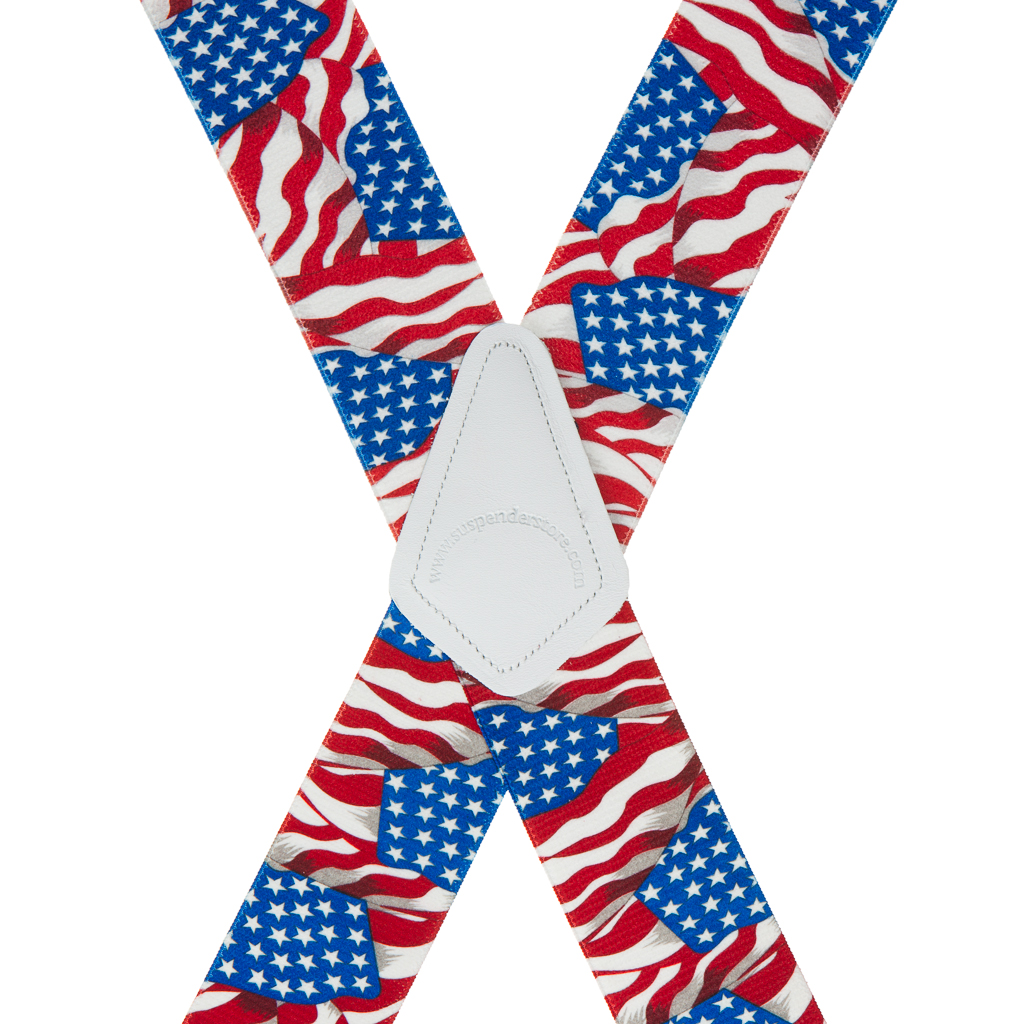 American Flag Suspenders - Rear View