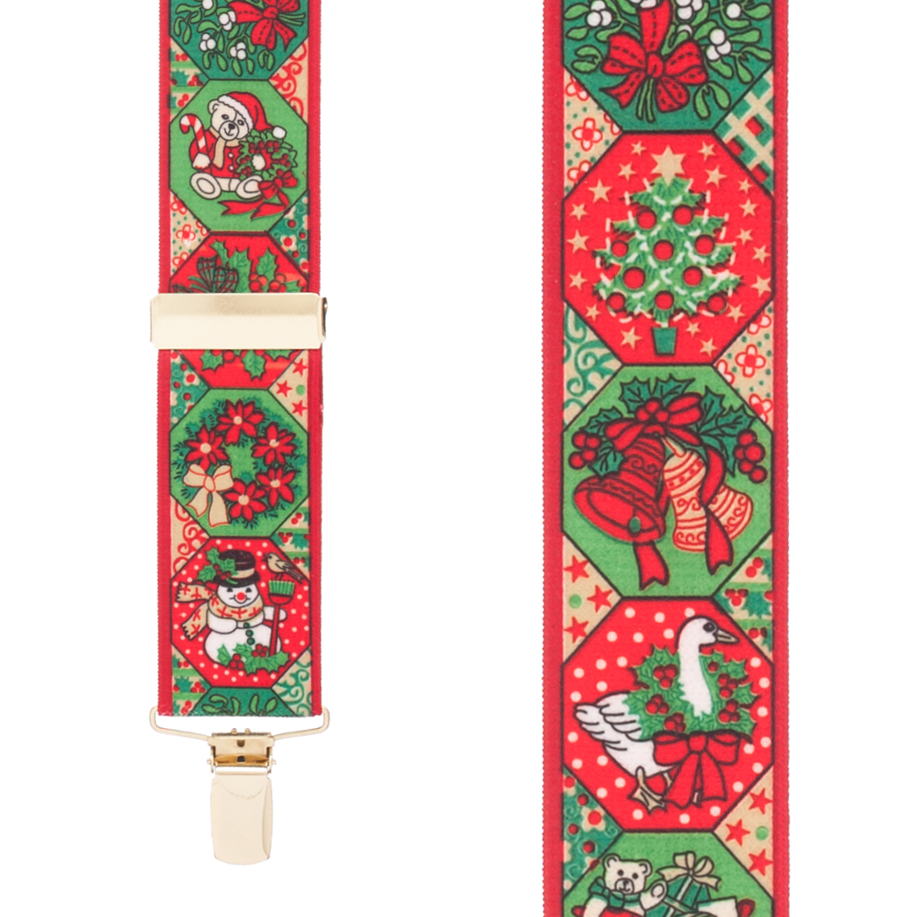 Holiday Spirit Christmas Suspenders - Front View