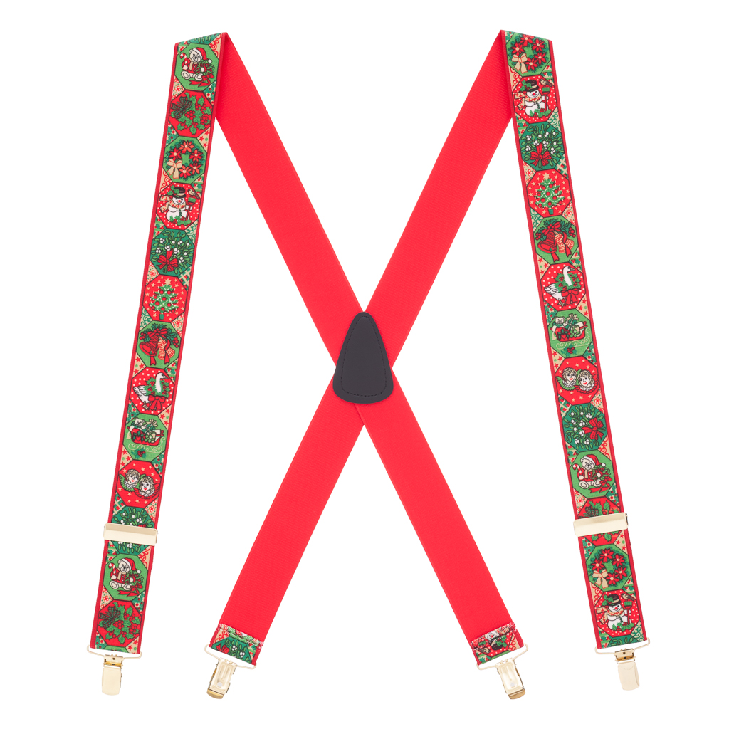 Holiday Spirit Christmas Suspenders - Full View