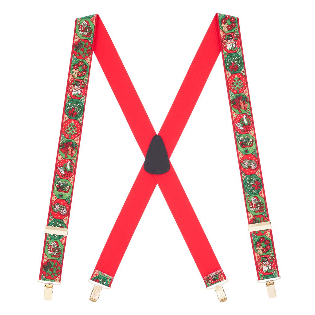 Holiday Spirit Christmas Suspenders - Full View