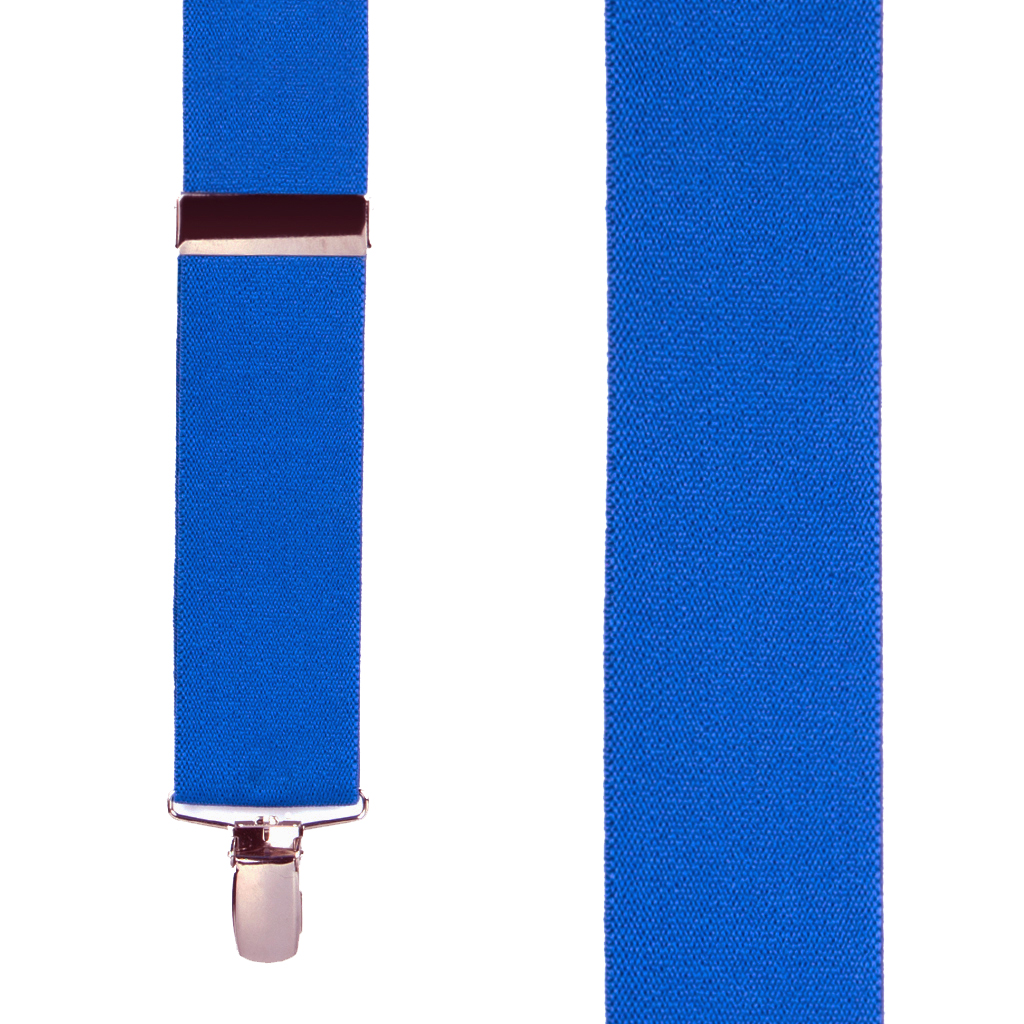 Front View - 1.5 Inch Wide Clip Suspenders - ROYAL BLUE