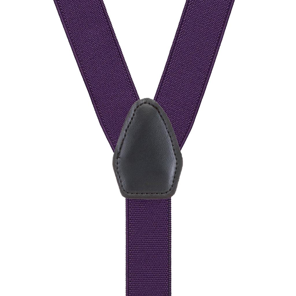 Suspenders in Plum - Rear View
