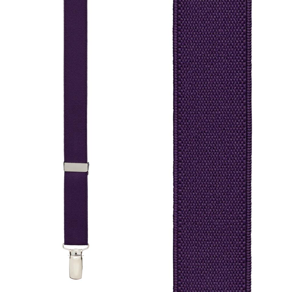 Suspenders in Plum - Front View