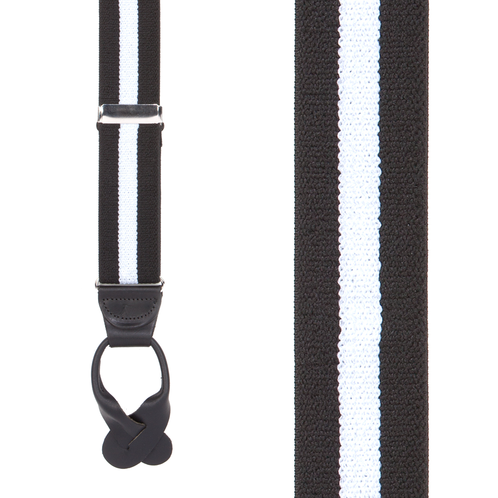1.5 Inch Wide Button Suspenders - Stripes, Dots, Checks