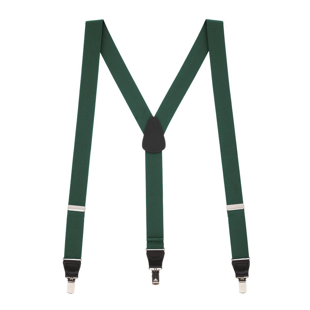 1.25-Inch Wide Suspenders in Hunter - Full View