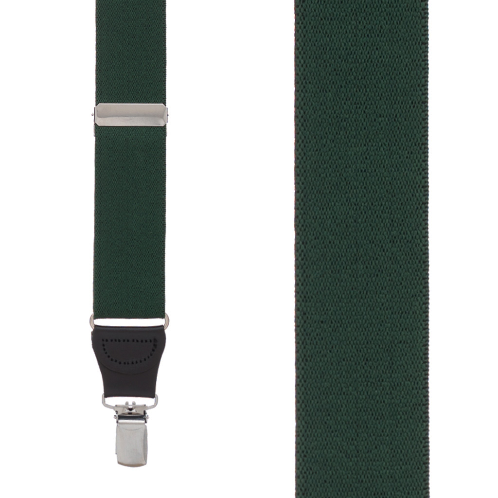 1.25-Inch Wide Suspenders in Hunter - Front View
