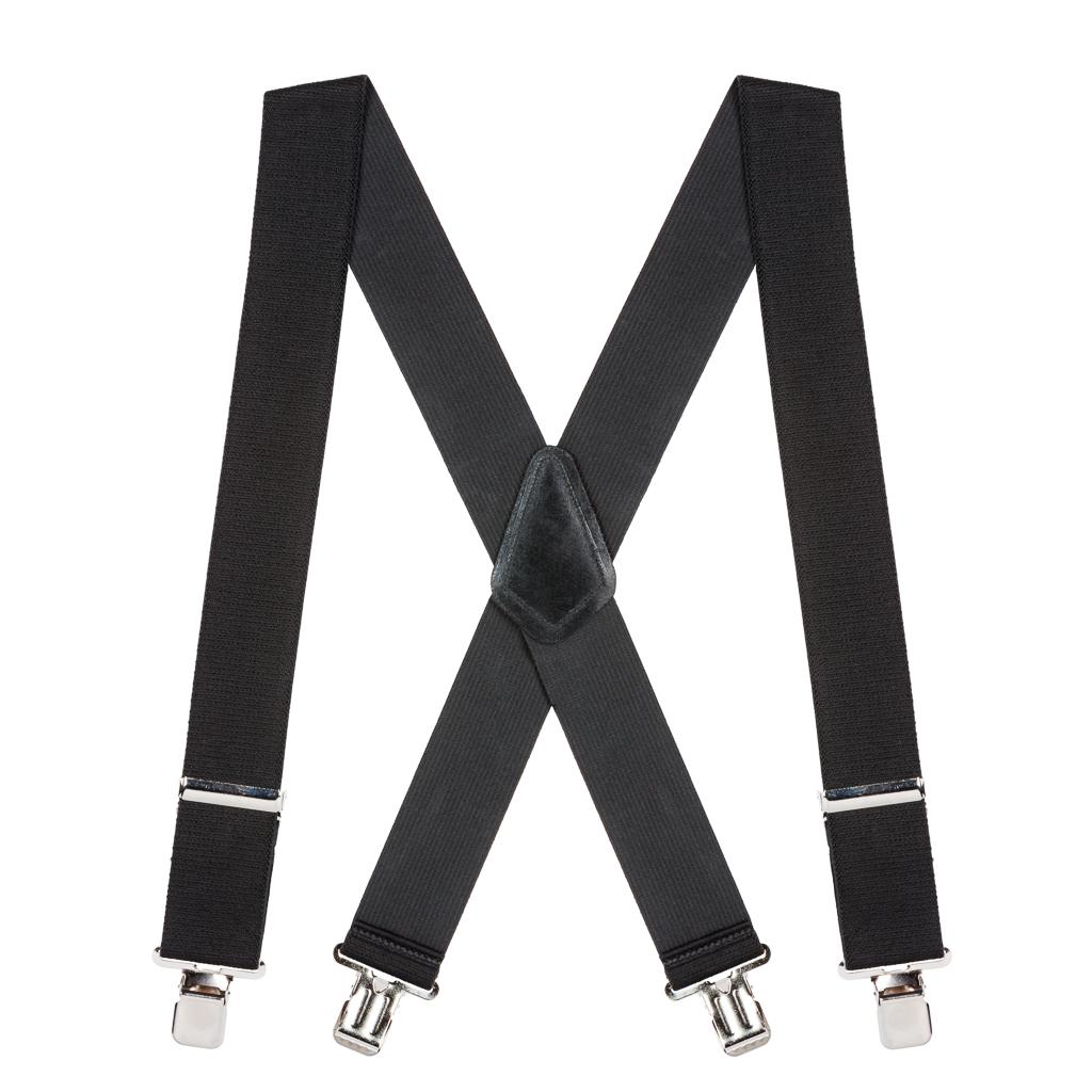 Classic Suspenders - Full View - Black