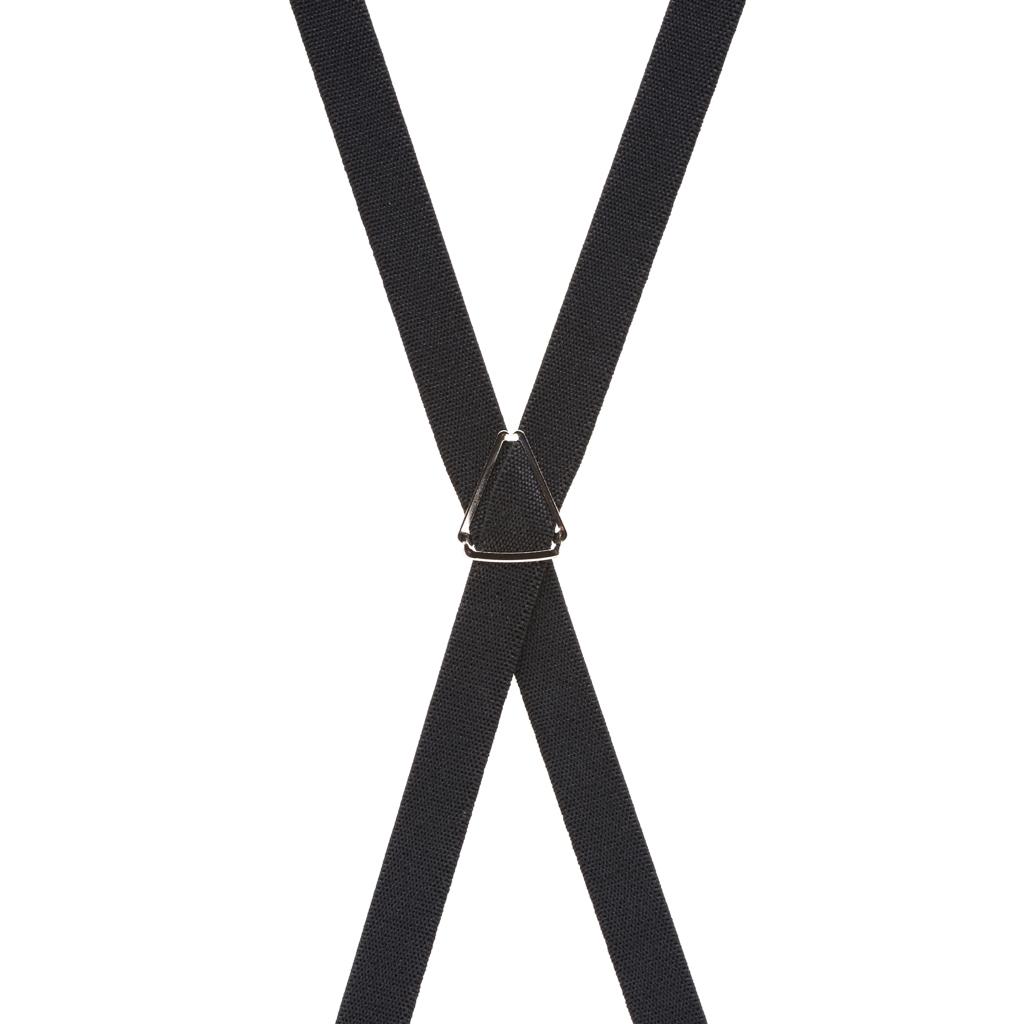 1/2 Inch Wide Skinny Suspenders - BLACK