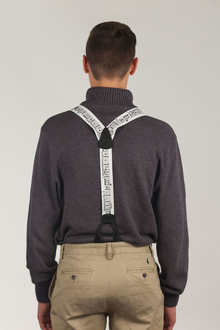 Beethoven's 5th Suspenders - BUTTON