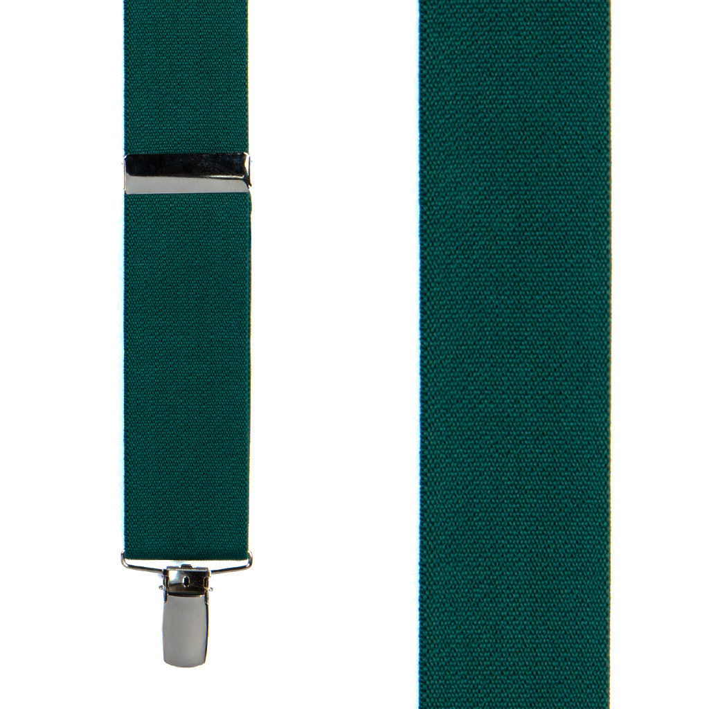 1.5 Inch Wide Suspenders in Green - Front View