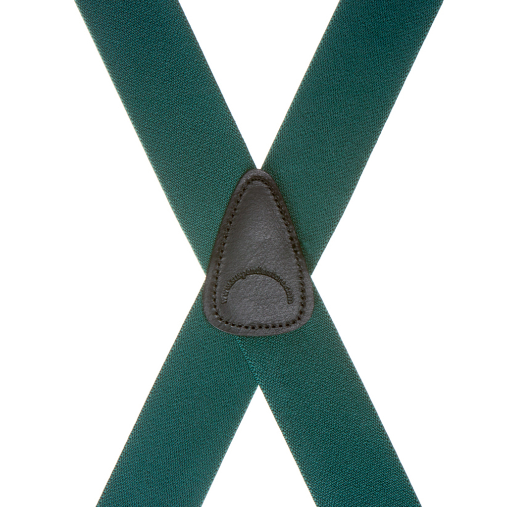1.5 Inch Wide Suspenders in Green - Rear View