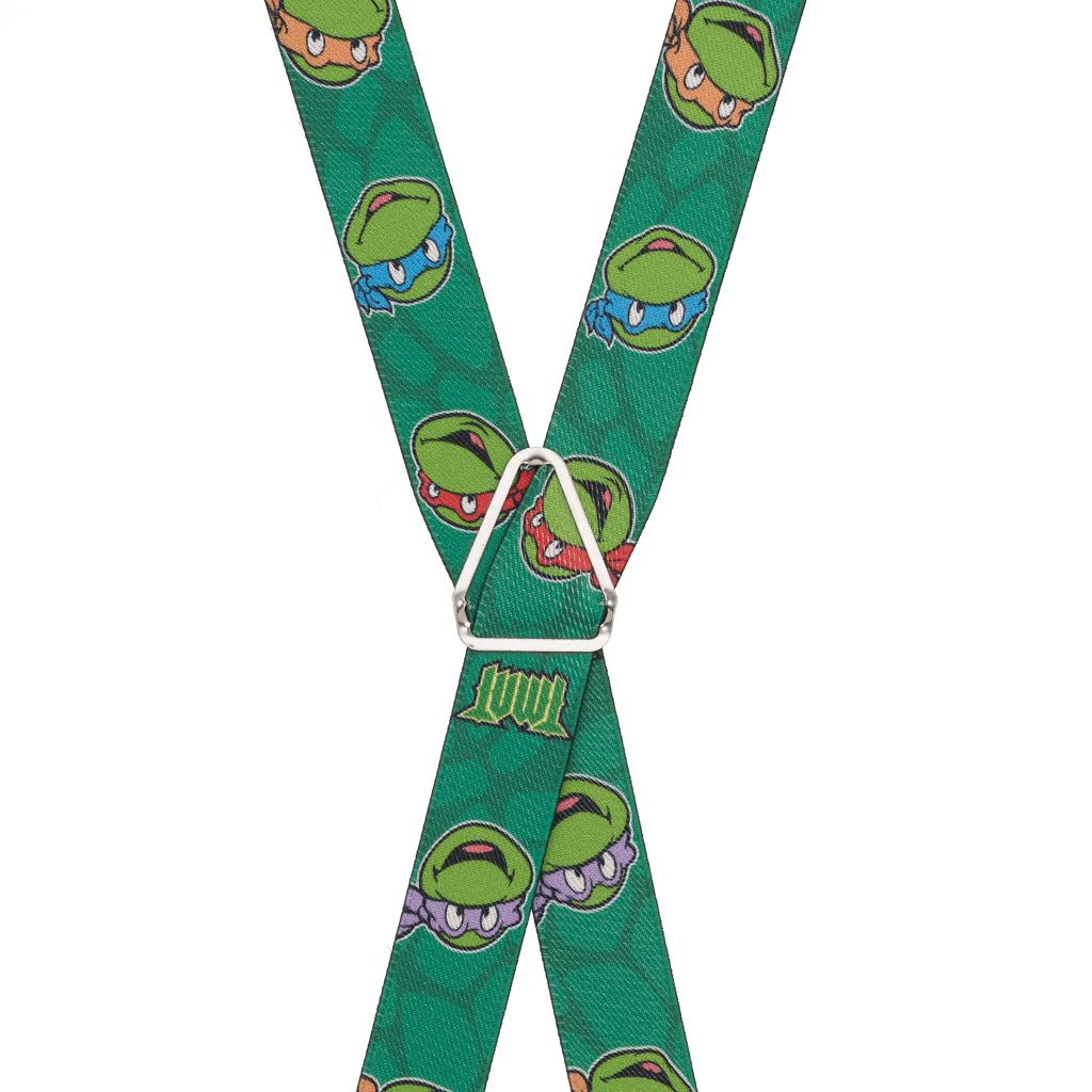 Ninja Turtle Suspenders - Rear View