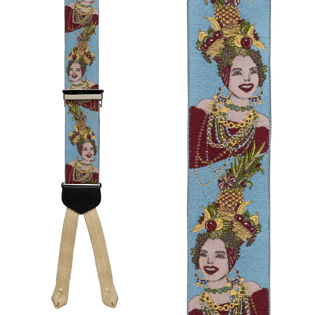 Brazilian Bombshell Limited Edition Braces - Front View