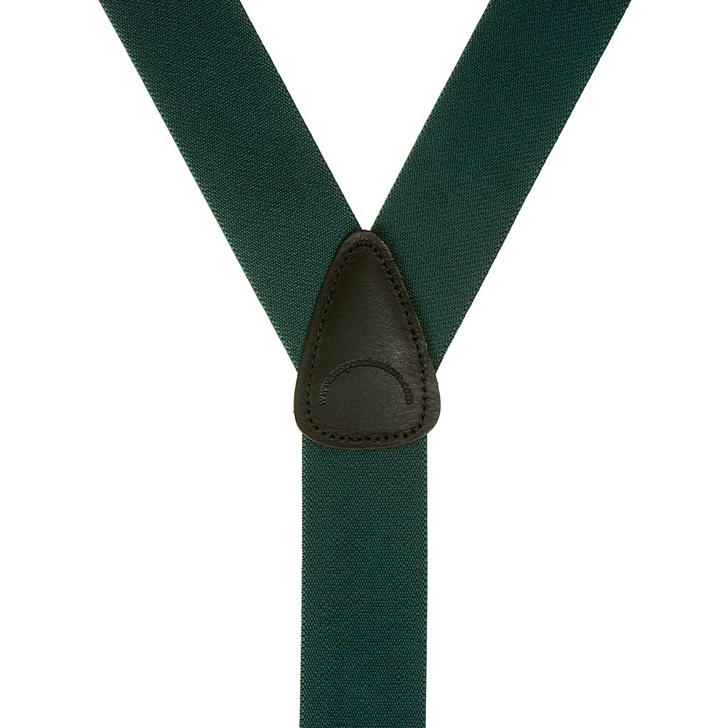1.5 Inch Wide Suspenders in Green - Rear View