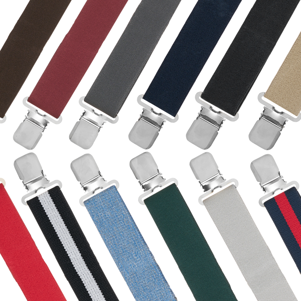1.5 Inch Wide Construction Clip Suspenders - All Colors