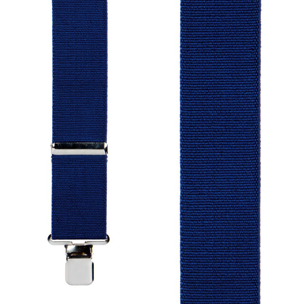 Classic Suspenders - Front View - Navy Blue