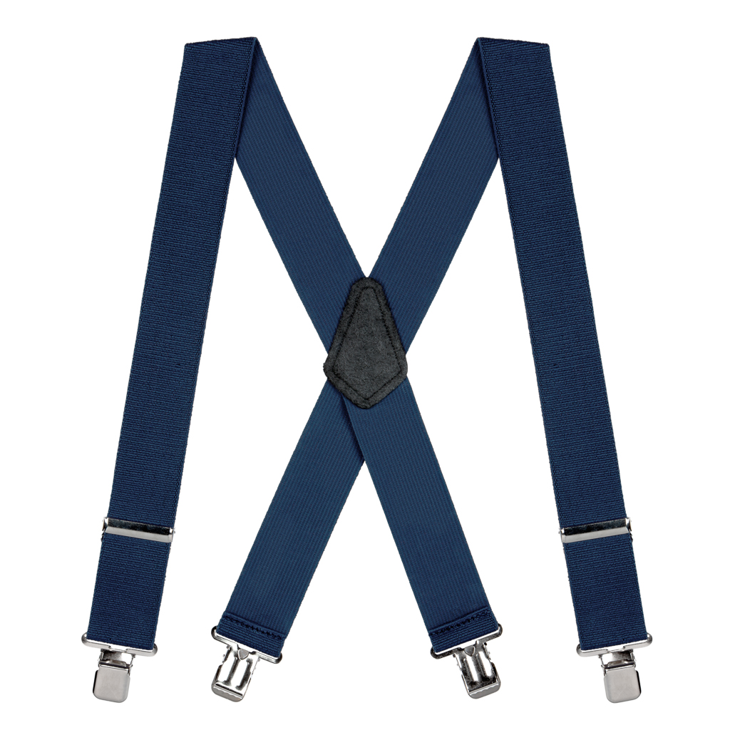 Classic Suspenders - Full View - Navy Blue