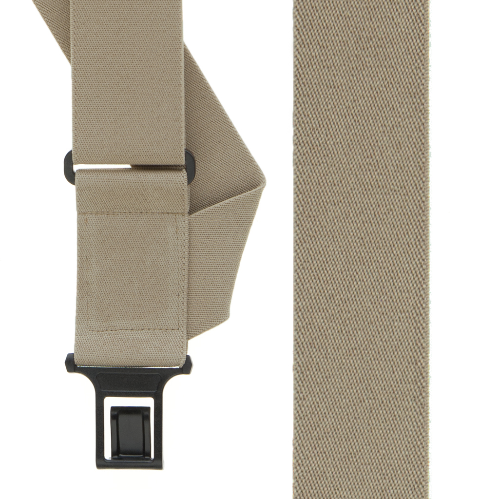 Perry Suspenders - Front View - Tan Side Clip