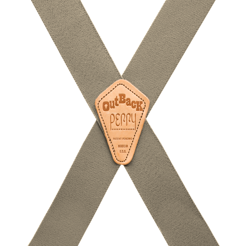 Perry Suspenders - Rear View - Tan Side Clip