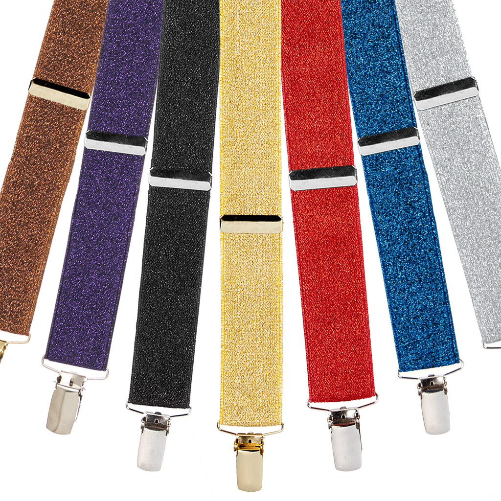 Glitter Suspenders for Women - All Colors