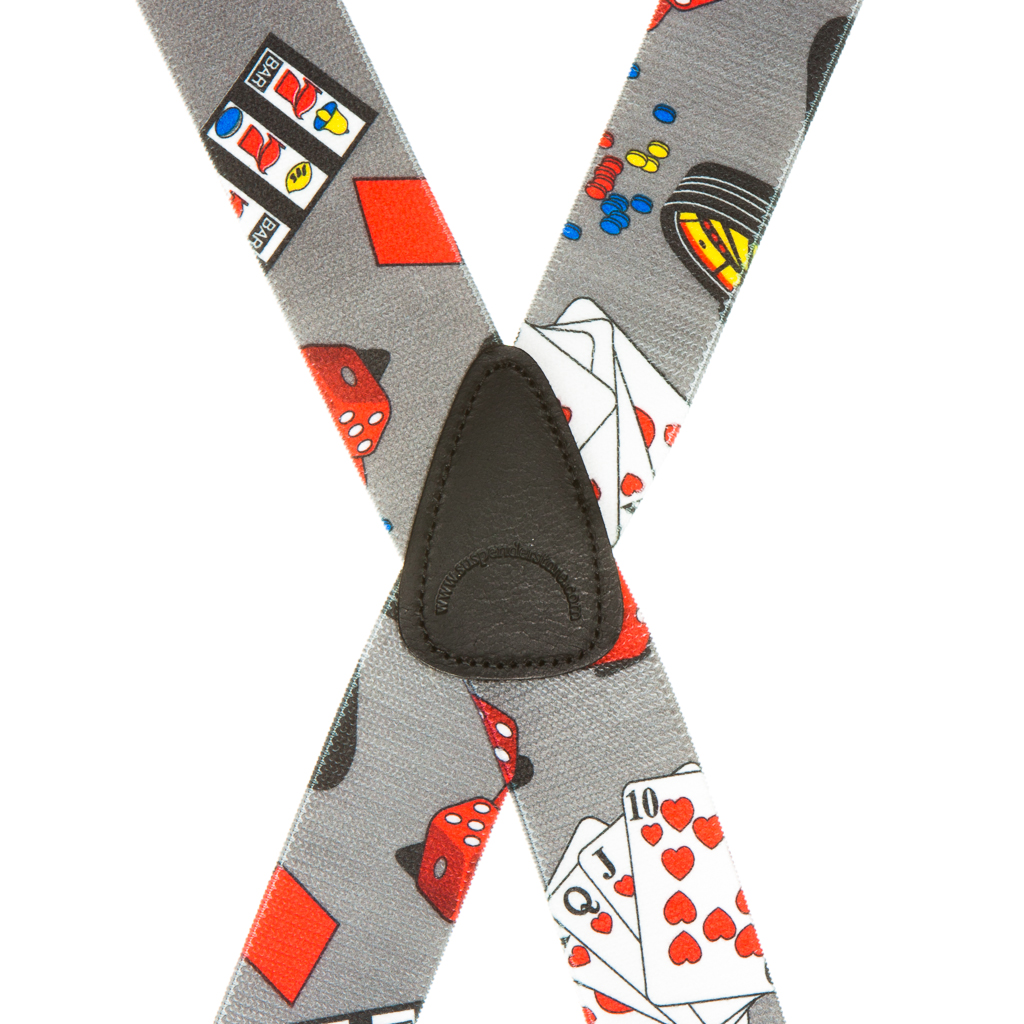 Casino Suspenders - Rear View