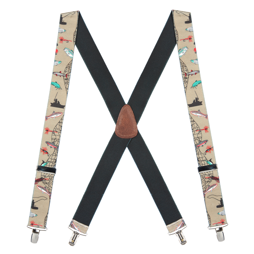 Full View - Fisherman Suspenders 1.5 Inch Wide - Dressy Clip