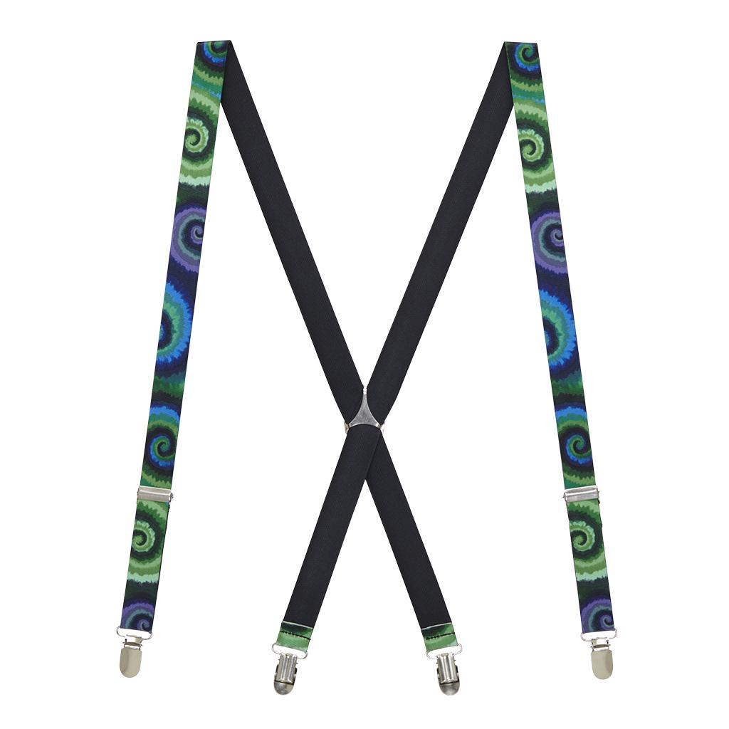Tie Dye Swirl Suspenders - Full View