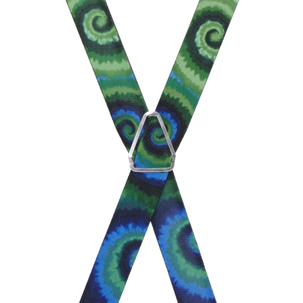 Tie Dye Swirl Suspenders - Rear View
