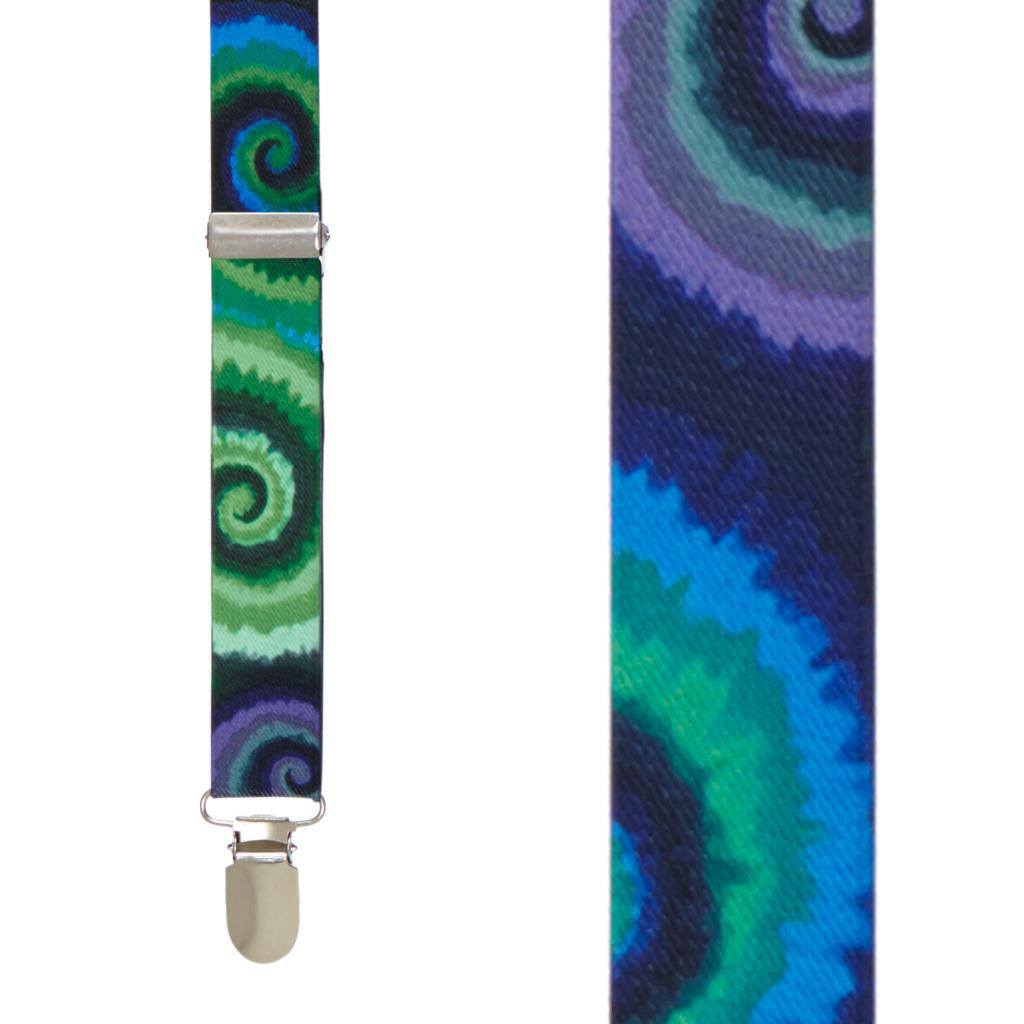 Tie Dye Swirl Suspenders - Front View