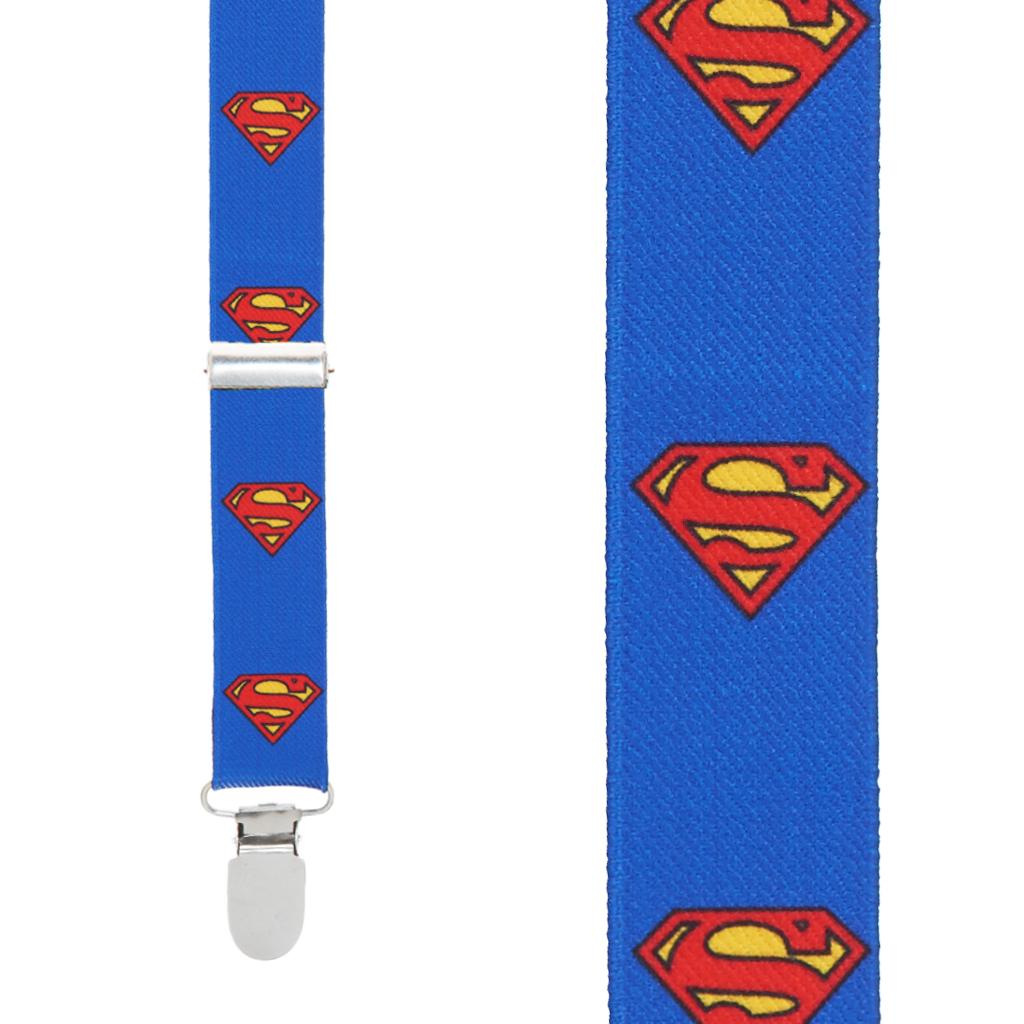 Superman Suspenders - Front View