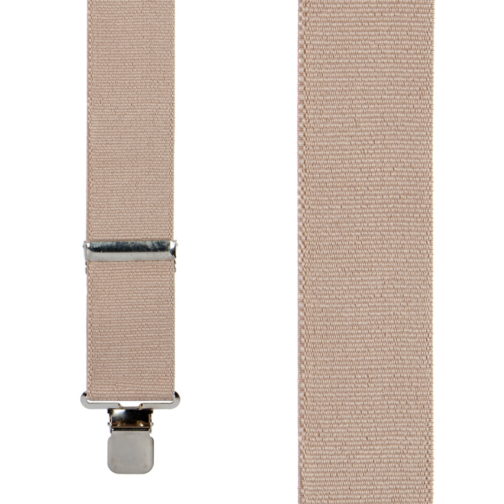 Classic Suspenders - Front View - Tan