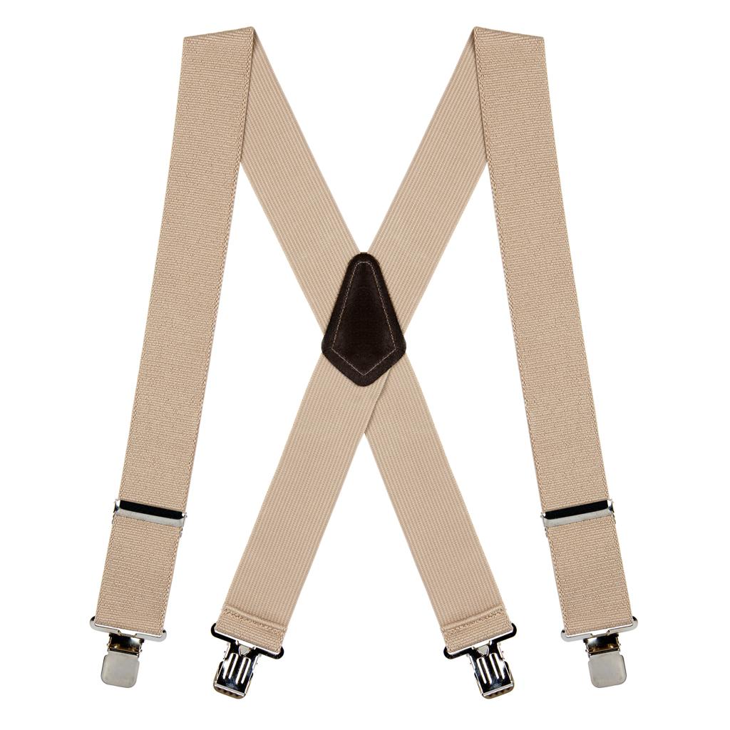 Classic Suspenders - Full View - Tan